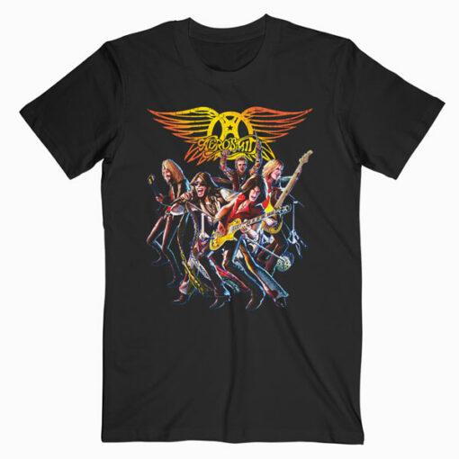 Aerosmith Cartoon Band T Shirt