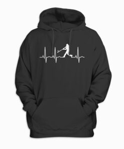 Baseball Player Heartbeat Hoodie