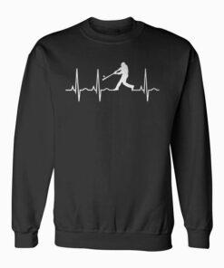 Baseball Player Heartbeat Sweatshirt