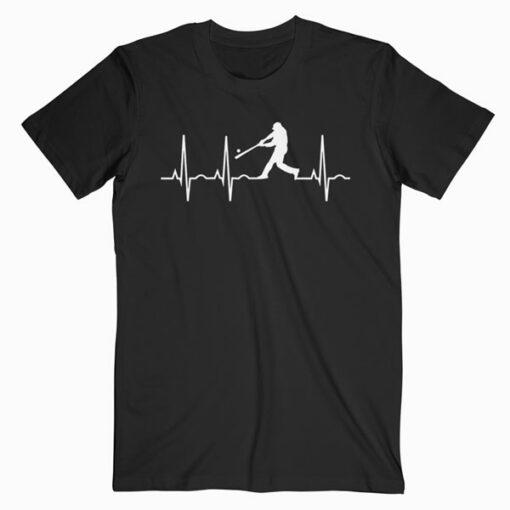 Baseball Player Heartbeat T Shirt