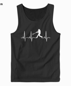 Baseball Player Heartbeat Tank Top