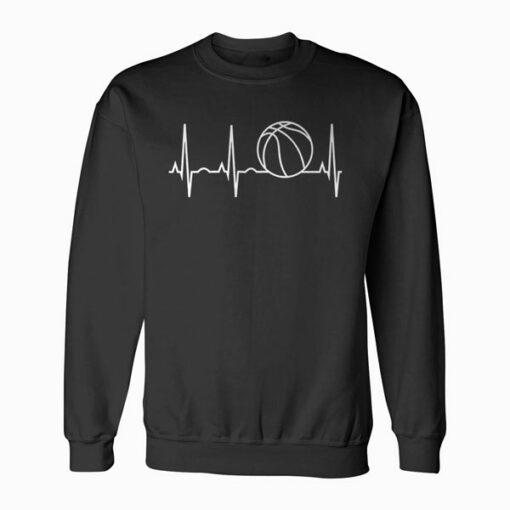 Basketball Heartbeat Sweatshirt