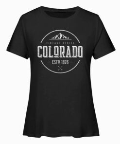 Classic Colorado Vintage Mountain Design T Shirt