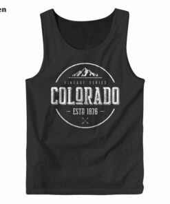Classic Colorado Vintage Mountain Design Tank Top