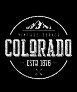 Classic Colorado Vintage Mountain Design
