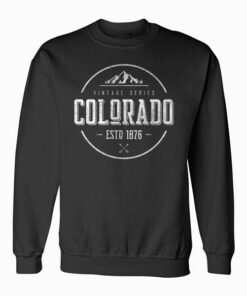 Classic Colorado Vintage Mountain Design Sweatshirt