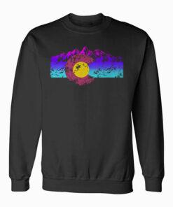 Colorado Flag Hoodie Colorful Rocky Mountains Version Sweatshirt