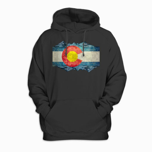 Colorado Flag and Mountains Hoodie