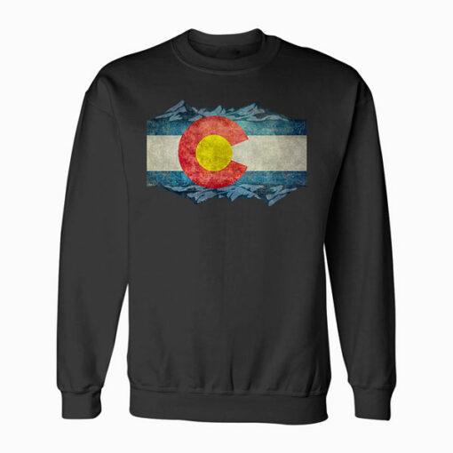 Colorado Flag and Mountains Sweatshirt