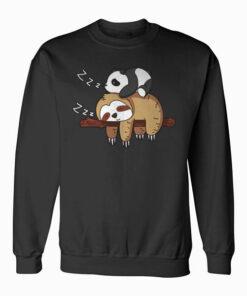 Cute Panda Sleeping on Sloth Lover Sweatshirt