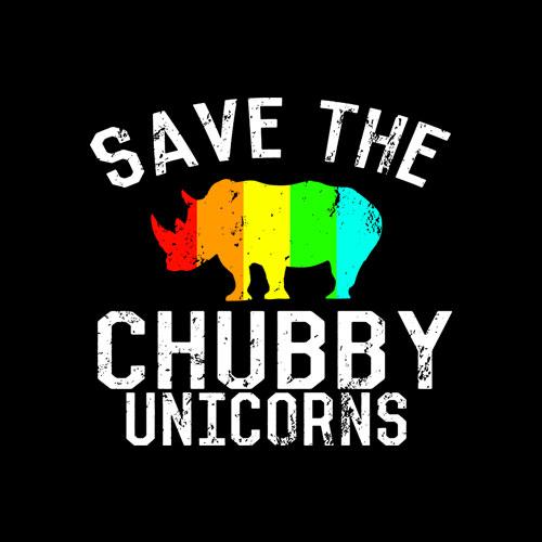 Funny Save the Chubby Unicorns Fat Rhino