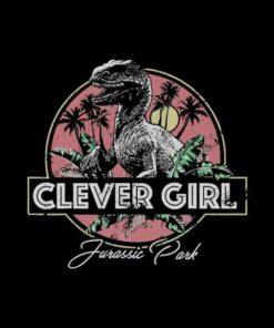 Jurassic Park Raptor Clever Girl Vintage Graphic