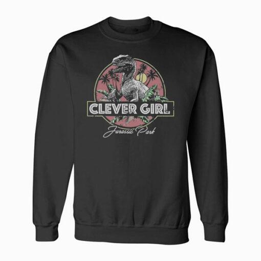 Jurassic Park Raptor Clever Girl Vintage Graphic T Shirt