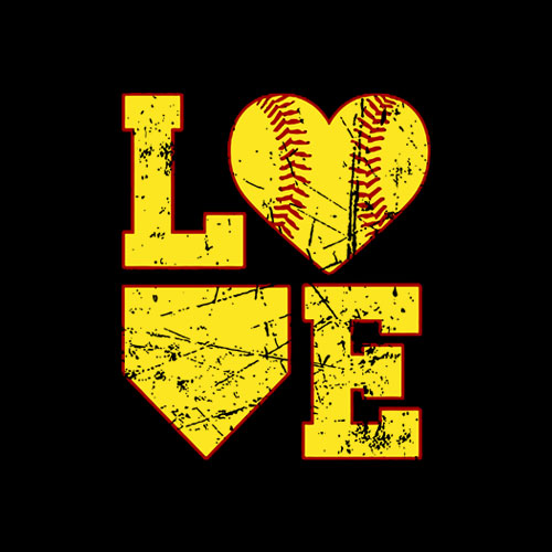 Love Softball Cute Softball