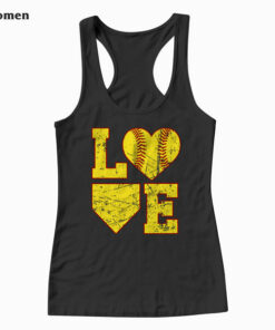 Love Softball Cute Softball Tank Top