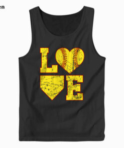 Love Softball Cute Softball Tank Top