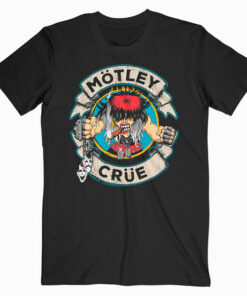 Motley Crue Cartoon Rocker Band T Shirt