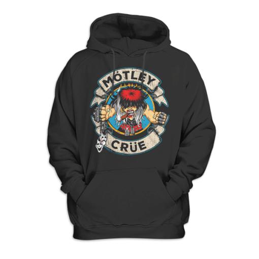 Motley Crue Cartoon Rocker Band Pullover Hoodie