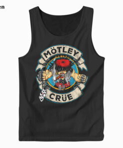 Motley Crue Cartoon Rocker Band Tank Top
