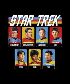Star Trek Original Series Crew Retro Rainbow Graphic