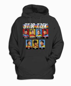 Star Trek Original Series Crew Retro Rainbow Graphic Hoodie