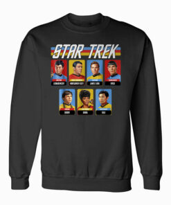 Star Trek Original Series Crew Retro Rainbow Graphic Sweatshirt
