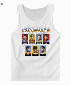 Star Trek Original Series Crew Retro Rainbow Graphic Tank Top