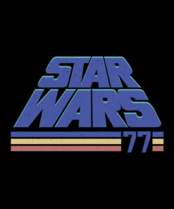 Star Wars Classic Retro Slanted Logo Striped '77 T Shirt