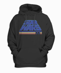 Star Wars Classic Retro Slanted Logo Striped '77 Hoodie