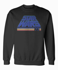 Star Wars Classic Retro Slanted Logo Striped '77 Sweatshirt