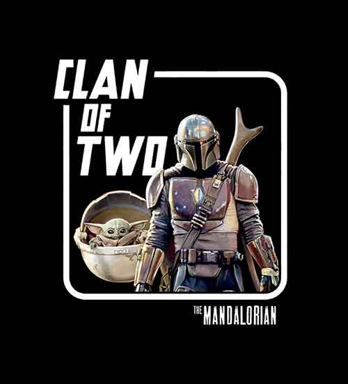Star Wars Mando Baby Yoda Clan of Two