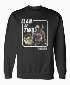 Star Wars Mando Baby Yoda Clan of Two Sweatshirt