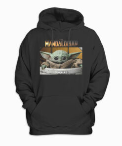 Star Wars The Mandalorian The Child Pod Screenshot Logo Hoodie