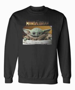 Star Wars The Mandalorian The Child Pod Screenshot Logo Sweatshirt