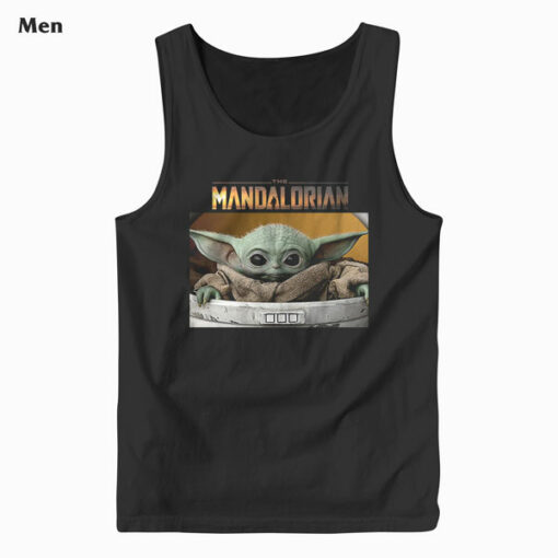 Star Wars The Mandalorian The Child Pod Screenshot Logo Tank Top