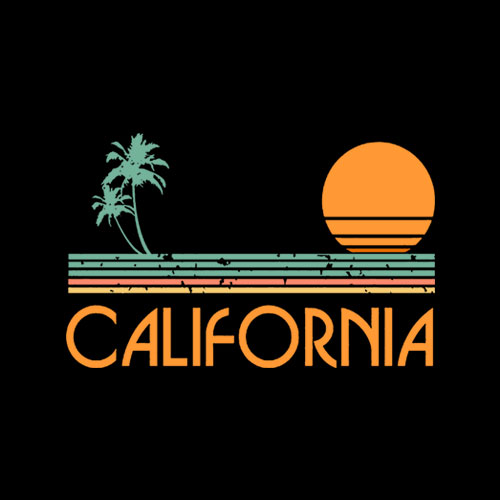 Vintage California Beach