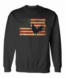 Vintage US Flag Cock Fight Sweatshirt