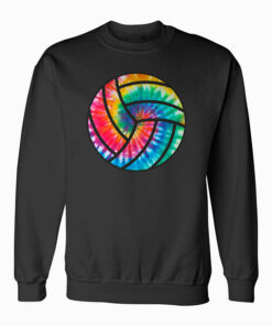 Volleyball Tie Dye Blue Purple Teenage Girls Perfect Gift Sweatshirt