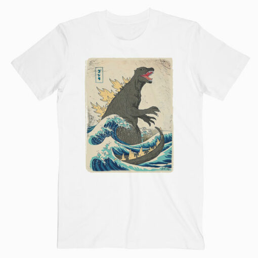 Godzilla Kanagawa Japanese T Shirt