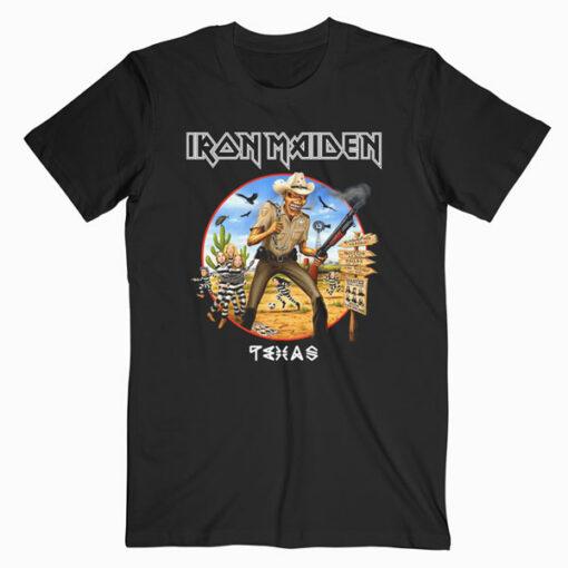 Iron Maiden Texas Band T Shirt