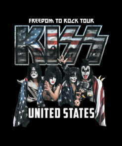 KISS Freedom To Rock Tour Band T Shirt