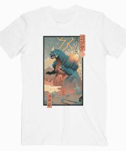 King Kaiju Ukiyo-e Funny Japanese T Shirt