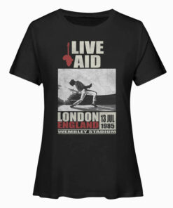 Live Aid at Wembley Freddie Mercury Queen Band T Shirt
