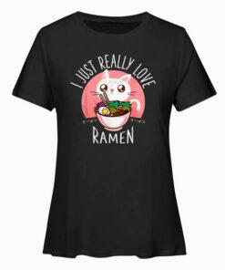 Love Ramen Japonés Noodles Camisa Kawaii Anime Cat Regalos Camiseta T Shirt