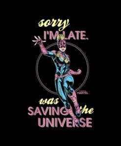 Marvel Sorry I was Saving The Universe T Shirt