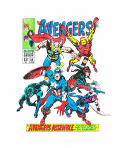 Marvel Vengadores Comics Crew Camiseta para hombre T Shirt