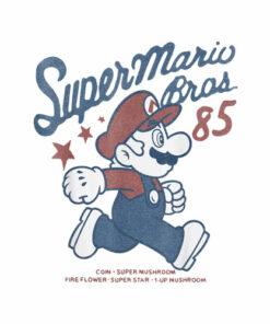 Nintendo Super Mario Brothers '85 Vintage estrellas playera T Shirt
