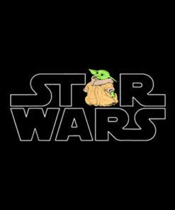 Star Wars Logo y el niño de la Mandalorian camiseta T Shirt