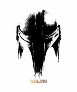 Star Wars The Mandalorian Dark Helmet Sketched T Shirt