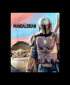 Star Wars The Mandalorian El Niño Pintura Camiseta T Shirt